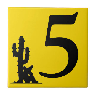Siesta by cactus Yellow Hot Number 5 five tile