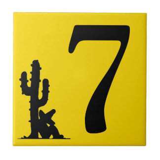 Siesta by cactus Yellow Hot Number 7 seven tile