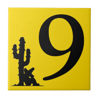 Siesta by cactus Yellow Hot Number 9 nine tile