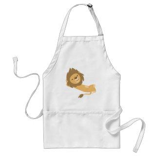 Siesta! Cute Cartoon Lion Standard Apron