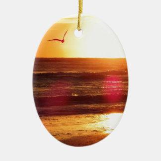 Siesta Key Beach Sunset Ceramic Ornament