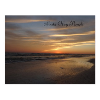 Siesta Key Beach Sunset Postcard