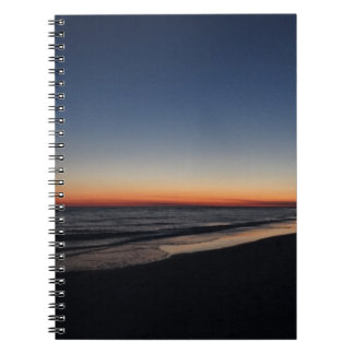 Siesta Key Beach Sunset Spiral Note Books