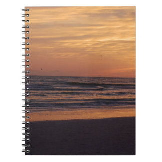 Siesta Key Beach Sunset Spiral Notebook