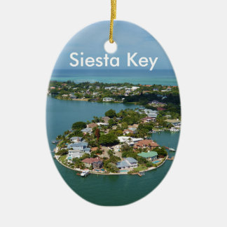 Siesta Key, Florida Ceramic Ornament