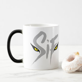Sif, the Great Grey Wolf Typography Magic Mug