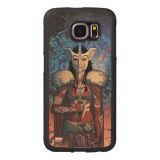 Sif With Sword Wood Phone Case