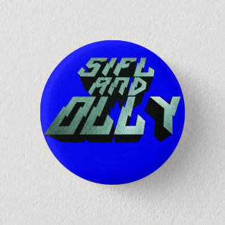 Sifl and Olly Metal Logo Button(Blue) 3 Cm Round Badge