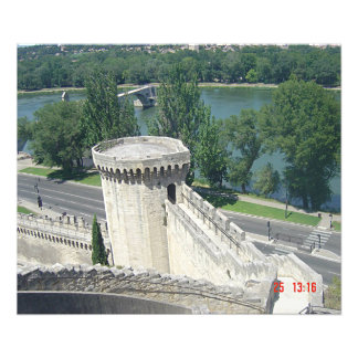 Sight of the Rhone and the ramparts of Avignon Photo