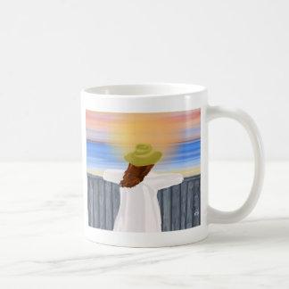 Sight Seeing Digital Art Basic White Mug
