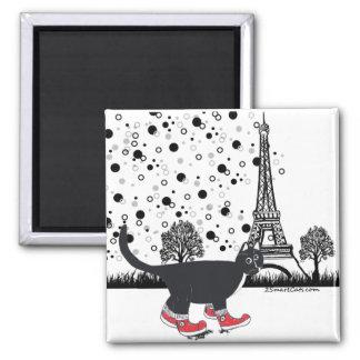 Sight-seeing In Paris Square Magnet