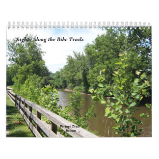 Sights Along the Bike Trails Wall Calendars