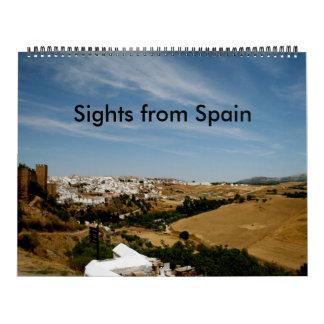 Sights from Spain Wall Calendar