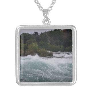Sightseeing at Niagara Falls Silver Plated Necklace