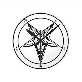 Sigil_of_Baphomet Round Clock