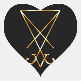 Sigil of Lucifer- A symbol of satanism Heart Sticker
