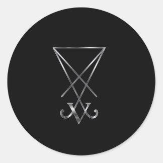 Sigil of Lucifer- A symbol of satanism Round Sticker