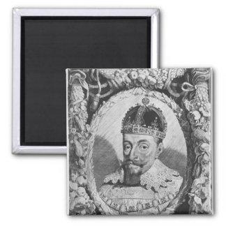 Sigismund Vasa, King of Poland and Sweden Square Magnet