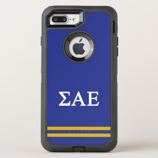 Sigma Alpha Epsilon | Sport Stripe OtterBox Defender iPhone 7 Plus Case