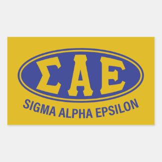 Sigma Alpha Epsilon | Vintage Rectangular Sticker