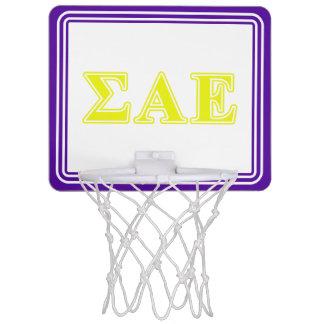 Sigma Alpha Epsilon Yellow Letters Mini Basketball Hoop