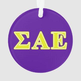 Sigma Alpha Epsilon Yellow Letters Ornament