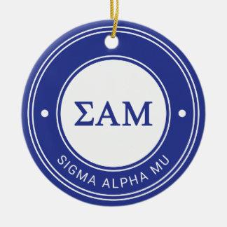 Sigma Alpha Mu | Badge Round Ceramic Decoration