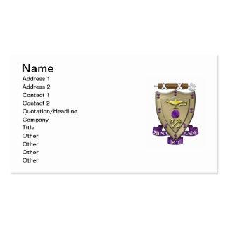 Sigma Alpha Mu Crest Pack Of Standard Business Cards