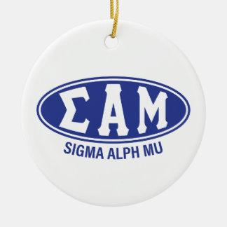 Sigma Alpha Mu | Vintage Ceramic Ornament