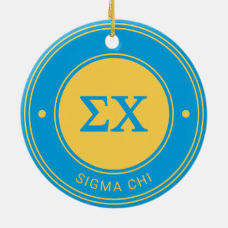 Sigma Chi | Badge Ceramic Ornament