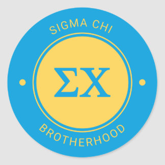 Sigma Chi | Badge Classic Round Sticker