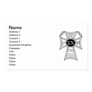 Sigma Chi Badge Pack Of Standard Business Cards