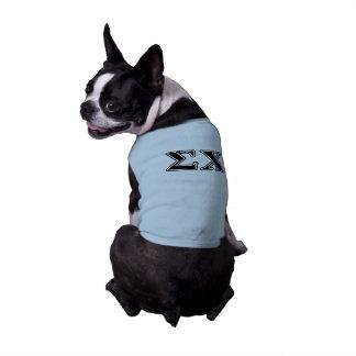 Sigma Chi Black Letters Sleeveless Dog Shirt