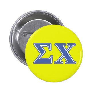 Sigma Chi Blue Letters 6 Cm Round Badge