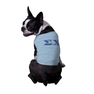 Sigma Chi Blue Letters Pet Tee