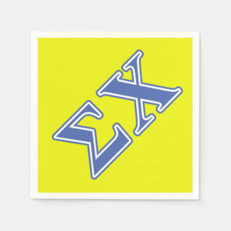 Sigma Chi Blue Letters Paper Napkins
