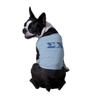 Sigma Chi Blue Letters Sleeveless Dog Shirt