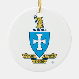 Sigma Chi Crest Logo Ceramic Ornament