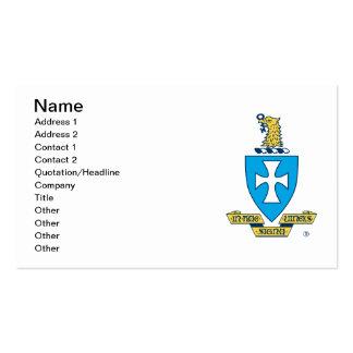 Sigma Chi Crest Logo Pack Of Standard Business Cards