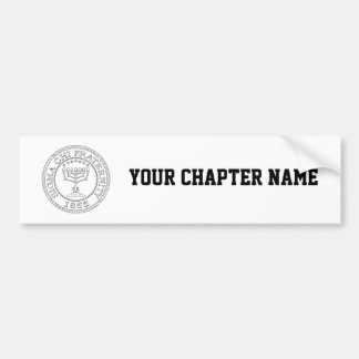 Sigma Chi Grand Seal B+W Bumper Sticker