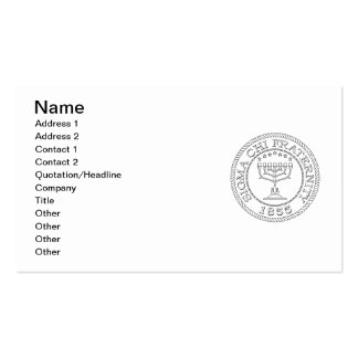 Sigma Chi Grand Seal B+W Pack Of Standard Business Cards