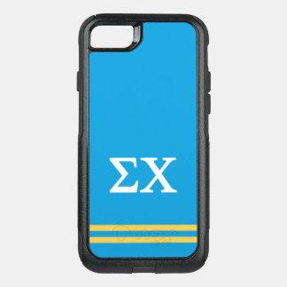Sigma Chi | Sport Stripe OtterBox Commuter iPhone 8/7 Case