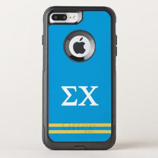 Sigma Chi | Sport Stripe OtterBox Commuter iPhone 8 Plus/7 Plus Case
