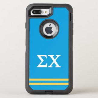 Sigma Chi | Sport Stripe OtterBox Defender iPhone 8 Plus/7 Plus Case