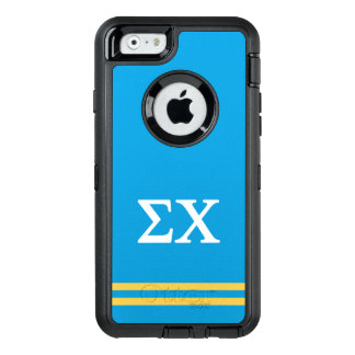 Sigma Chi | Sport Stripe OtterBox Defender iPhone Case