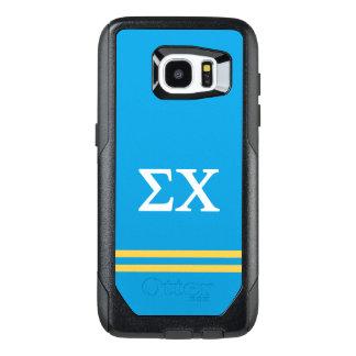 Sigma Chi | Sport Stripe OtterBox Samsung Galaxy S7 Edge Case