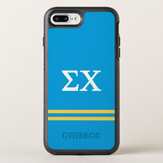 Sigma Chi | Sport Stripe OtterBox Symmetry iPhone 8 Plus/7 Plus Case