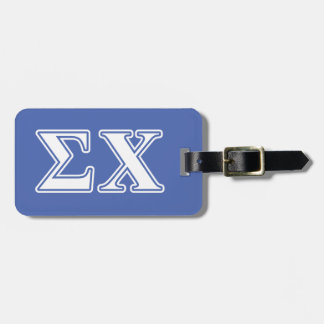 Sigma Chi White and Blue Letters Luggage Tag