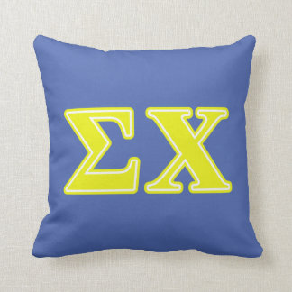 Sigma Chi Yellow Letters Cushion