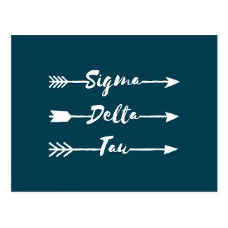 Sigma Delta Tau | Arrow Postcard